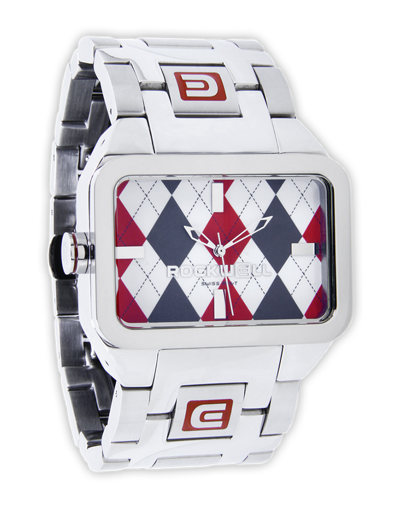 Rockwell Watches Duel Time - Red Argyle